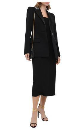 Женский шерстяной жакет GIVENCHY черного цвета, арт. BW30B9G0L3 | Фото 2