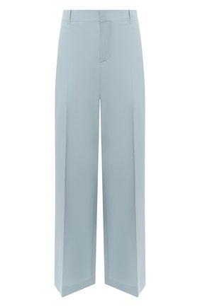 Женские шерстяные брюки GIVENCHY голубого цвета, арт. BW50M512JF | Фото 1