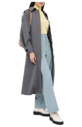 Женские шерстяные брюки GIVENCHY голубого цвета, арт. BW50M512JF | Фото 2