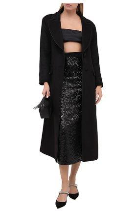 Женская юбка с пайетками IN THE MOOD FOR LOVE черного цвета, арт. ANIKA S0LID SKIRT | Фото 2