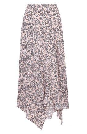 Женская юбка из вискозы MICHAEL MICHAEL KORS розового цвета, арт. MU07F2JF0F   Фото 1 (Женское Кросс-КТ: Юбка-одежда; Стили: Романтичный; Материал внешний: Вискоза; Длина Ж (юбки, платья, шорты): Макси)