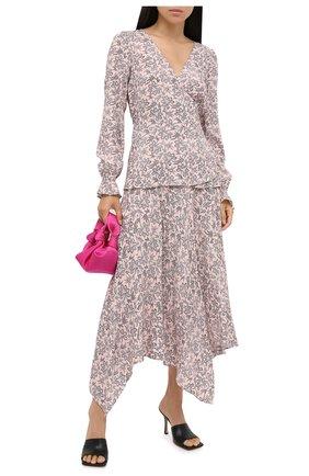 Женская юбка из вискозы MICHAEL MICHAEL KORS розового цвета, арт. MU07F2JF0F   Фото 2