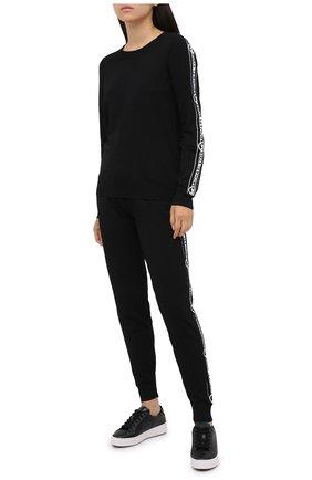 Женские кожаные кеды kirby MICHAEL MICHAEL KORS черного цвета, арт. 43T0KBFS5L   Фото 2
