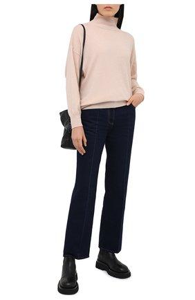 Женский пуловер PIETRO BRUNELLI светло-бежевого цвета, арт. MAG007/WS0003 | Фото 2