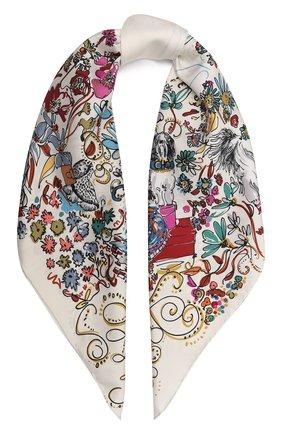 Женский шелковый платок comic SALVATORE FERRAGAMO разноцветного цвета, арт. Z-0735106   Фото 1