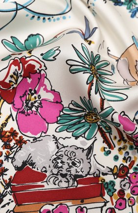 Женский шелковый платок comic SALVATORE FERRAGAMO разноцветного цвета, арт. Z-0735106   Фото 2