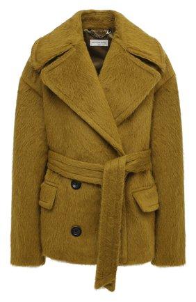 Женское шерстяное пальто DRIES VAN NOTEN зеленого цвета, арт. 202-10261-1261 | Фото 1