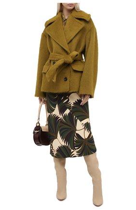 Женское шерстяное пальто DRIES VAN NOTEN зеленого цвета, арт. 202-10261-1261 | Фото 2