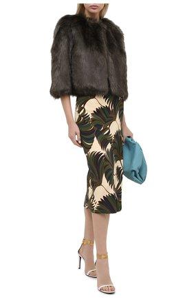 Женская шуба DRIES VAN NOTEN хаки цвета, арт. 202-10514-1123 | Фото 2