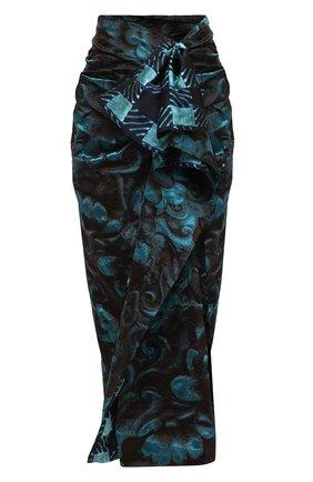Женская юбка DRIES VAN NOTEN бирюзового цвета, арт. 202-10896-1334   Фото 1