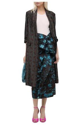 Женская юбка DRIES VAN NOTEN бирюзового цвета, арт. 202-10896-1334   Фото 2