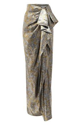 Женская юбка-макси DRIES VAN NOTEN серебряного цвета, арт. 202-10897-1347 | Фото 1