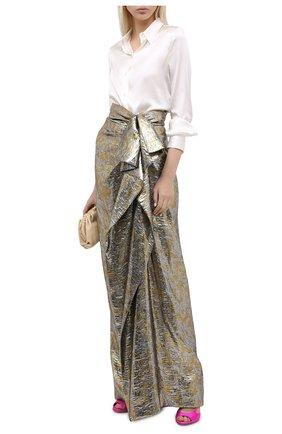Женская юбка-макси DRIES VAN NOTEN серебряного цвета, арт. 202-10897-1347 | Фото 2