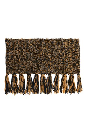 Женский шерстяной шарф-снуд DRIES VAN NOTEN коричневого цвета, арт. 202-12206-1704 | Фото 1