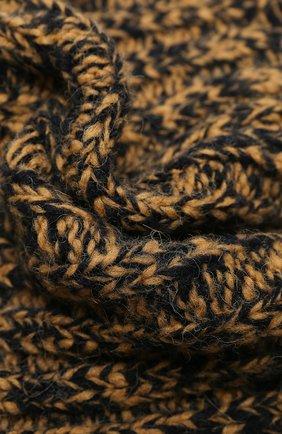 Женский шерстяной шарф-снуд DRIES VAN NOTEN коричневого цвета, арт. 202-12206-1704 | Фото 2
