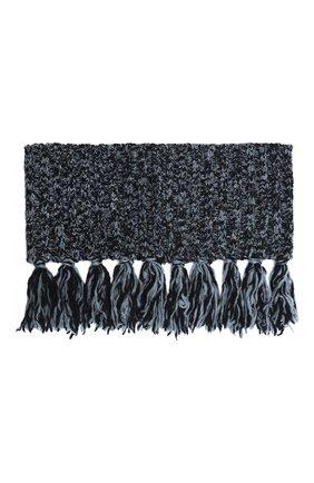 Женский шерстяной шарф-снуд DRIES VAN NOTEN синего цвета, арт. 202-12206-1704 | Фото 1