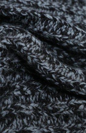 Женский шерстяной шарф-снуд DRIES VAN NOTEN синего цвета, арт. 202-12206-1704 | Фото 2
