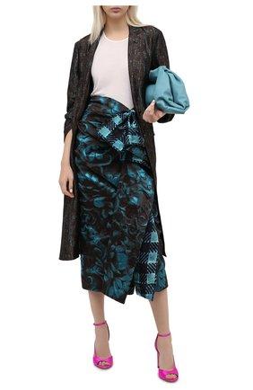 Женское пальто из вискозы и шелка DRIES VAN NOTEN зеленого цвета, арт. 202-30456-1331 | Фото 2