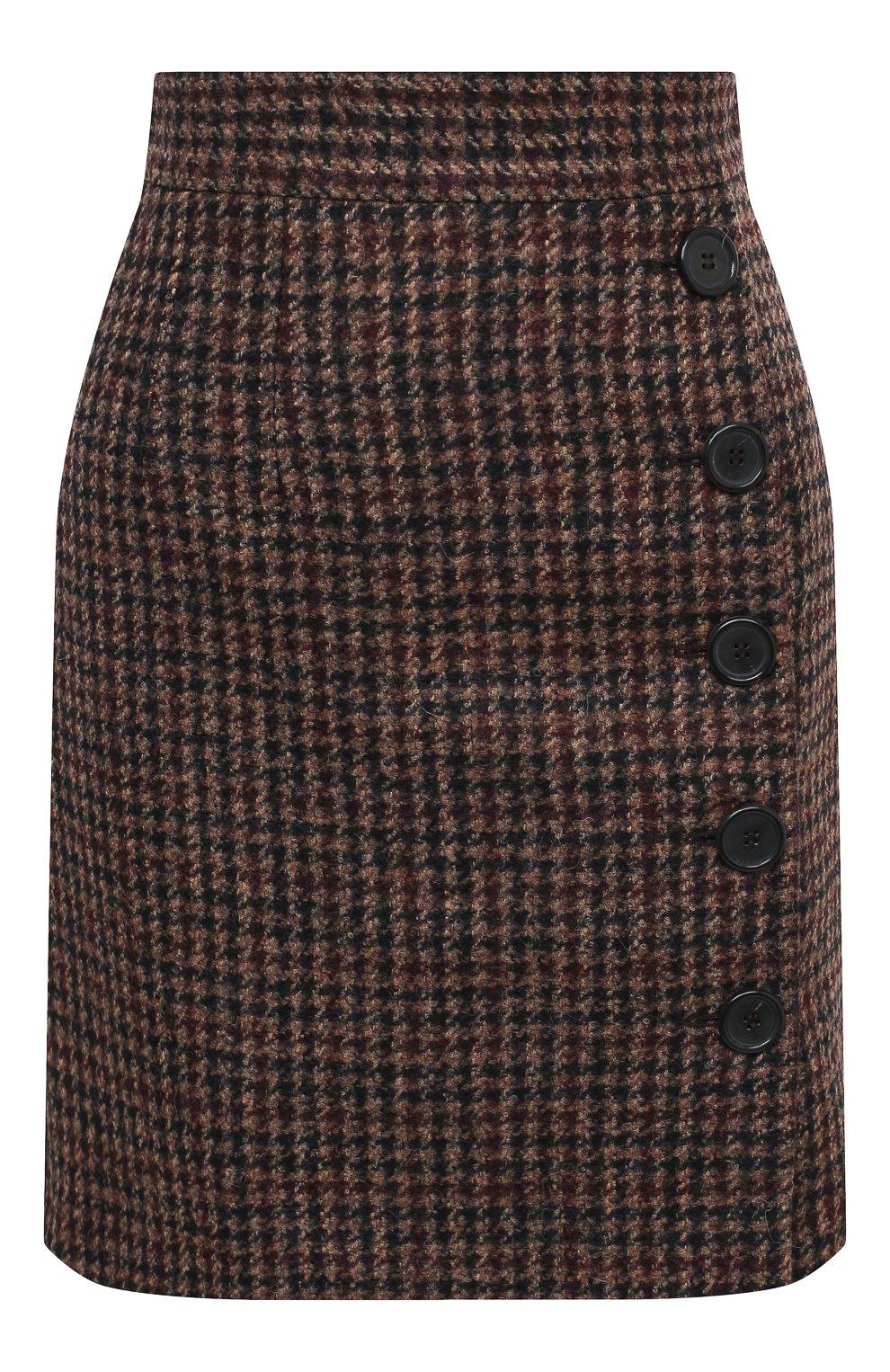 Женская юбка DOLCE & GABBANA коричневого цвета, арт. F4BYMT/FQMH3 | Фото 1