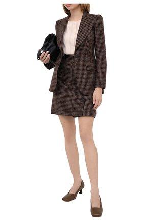 Женская юбка DOLCE & GABBANA коричневого цвета, арт. F4BYMT/FQMH3 | Фото 2
