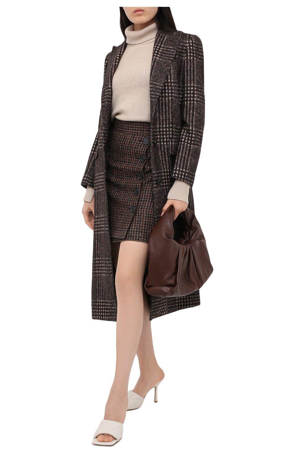 Женская юбка DOLCE & GABBANA коричневого цвета, арт. F4BYMT/FQMH3 | Фото 3