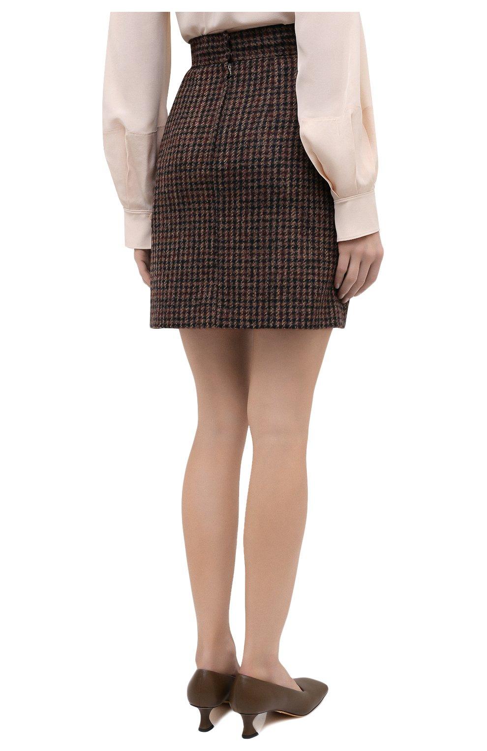 Женская юбка DOLCE & GABBANA коричневого цвета, арт. F4BYMT/FQMH3 | Фото 5