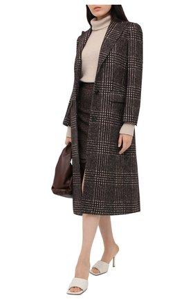 Женская юбка DOLCE & GABBANA коричневого цвета, арт. F4BYMT/FQMH3 | Фото 6