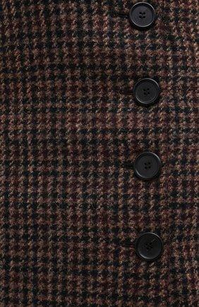 Женская юбка DOLCE & GABBANA коричневого цвета, арт. F4BYMT/FQMH3 | Фото 7