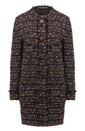 Женское пальто DOLCE & GABBANA коричневого цвета, арт. F0AI0T/HUMEI | Фото 1