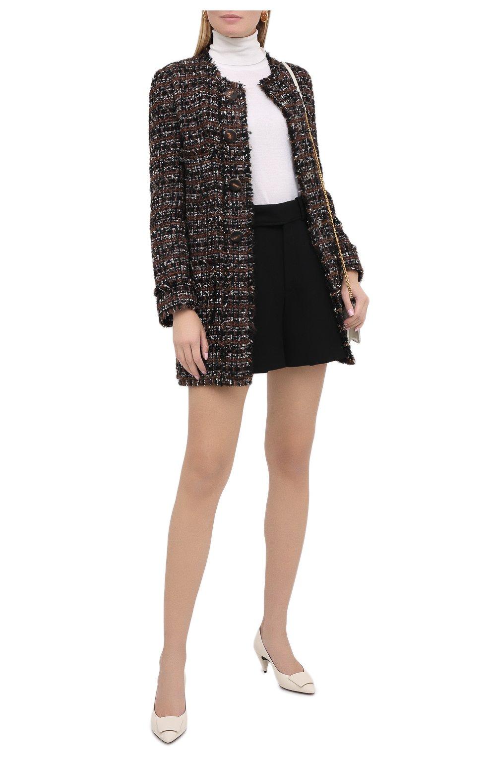 Женское пальто DOLCE & GABBANA коричневого цвета, арт. F0AI0T/HUMEI | Фото 3