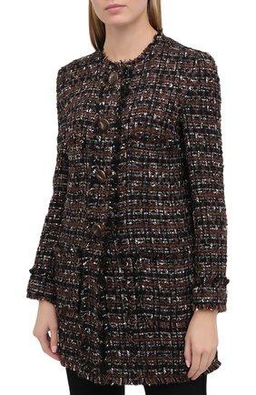 Женское пальто DOLCE & GABBANA коричневого цвета, арт. F0AI0T/HUMEI | Фото 4