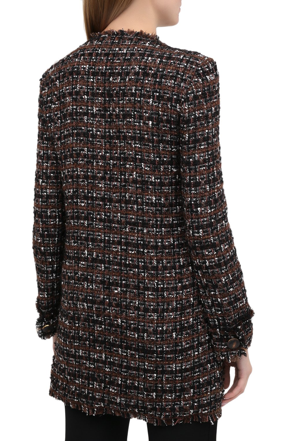 Женское пальто DOLCE & GABBANA коричневого цвета, арт. F0AI0T/HUMEI | Фото 5