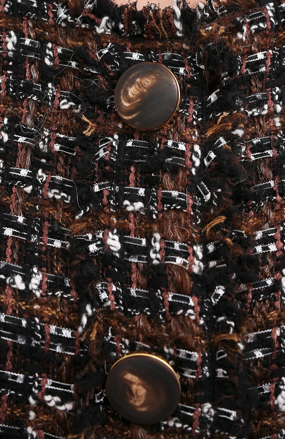 Женское пальто DOLCE & GABBANA коричневого цвета, арт. F0AI0T/HUMEI | Фото 6