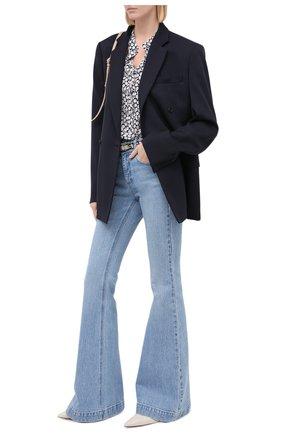 Женская шелковая блузка STELLA MCCARTNEY синего цвета, арт. 531885/SPA22 | Фото 2