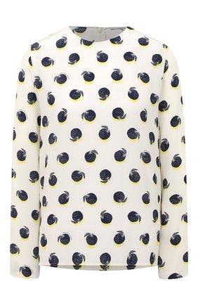 Женская шелковая блузка STELLA MCCARTNEY белого цвета, арт. 411686/SPA19 | Фото 1