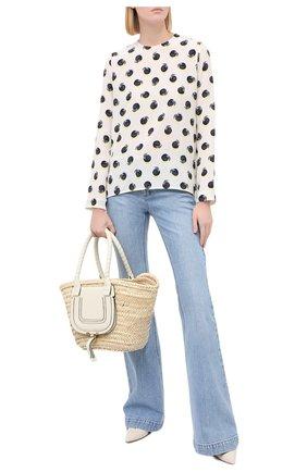 Женская шелковая блузка STELLA MCCARTNEY белого цвета, арт. 411686/SPA19 | Фото 2