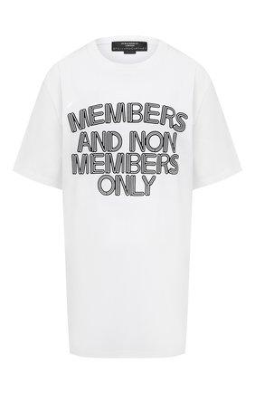 Женская хлопковая футболка STELLA MCCARTNEY белого цвета, арт. 569294/SMP89 | Фото 1
