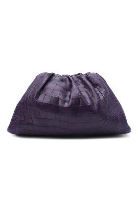 Женский клатч pouch из кожи аллигатора BOTTEGA VENETA фиолетового цвета, арт. 576227/VCPX0/AMIS | Фото 1