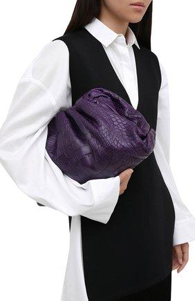 Женский клатч pouch из кожи аллигатора BOTTEGA VENETA фиолетового цвета, арт. 576227/VCPX0/AMIS | Фото 2