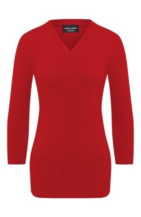 Женский кашемировый пуловер GIORGIO ARMANI красного цвета, арт. 6HAM18/AM83Z | Фото 1