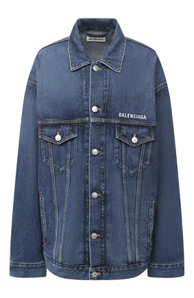 Женская джинсовая куртка BALENCIAGA синего цвета, арт. 620746/TDW14 | Фото 1