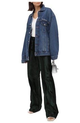 Женская джинсовая куртка BALENCIAGA синего цвета, арт. 620746/TDW14 | Фото 2