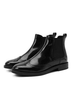 Женские комбинированные ботинки TOD'S черного цвета, арт. XXW60C0DE31AKT | Фото 1