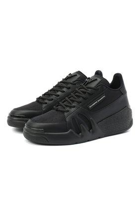 Женские комбинированные кроссовки GIUSEPPE ZANOTTI DESIGN черного цвета, арт. RW00037/002   Фото 1