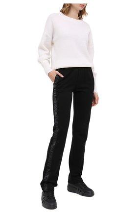 Женские комбинированные кроссовки GIUSEPPE ZANOTTI DESIGN черного цвета, арт. RW00037/002   Фото 2