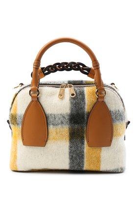Женская сумка daria medium CHLOÉ коричневого цвета, арт. CHC20AS360D17 | Фото 1