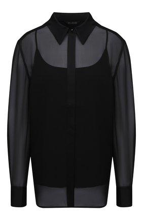 Женская шелковая блузка ST. JOHN черного цвета, арт. K320WA1   Фото 1