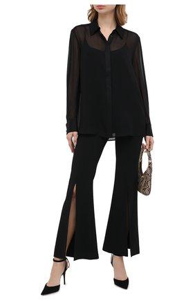 Женская шелковая блузка ST. JOHN черного цвета, арт. K320WA1   Фото 2