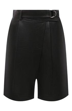 Женские кожаные шорты HELMUT LANG черного цвета, арт. K04HW204 | Фото 1