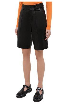 Женские кожаные шорты HELMUT LANG черного цвета, арт. K04HW204 | Фото 4